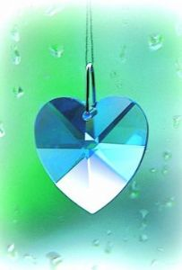 Crystal~Heart 28 Sapphire Swarovski Hanging .Rainbow Collection-A stunning array of dancing light